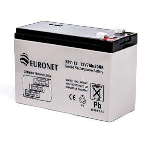 باطری 12 ولت 7 آمپر EURONET